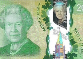 Canada 20 banknote