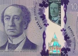 Canada 10 banknote