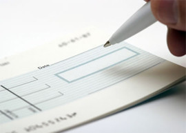Cheque payment image