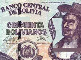 Bolivia banknote thumbnail