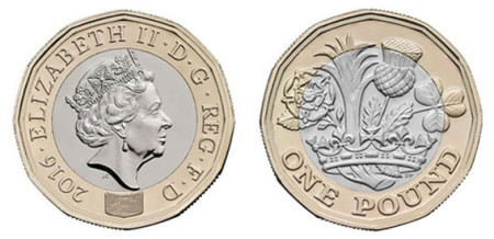 Royal Mint new £1 coin design