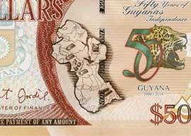 Guyana Commemorative $50 banknote thumbnail