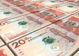 Colombia 20 thousand banknotes being printed, 2016.