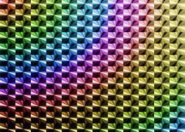 An image of a rainbow hologram.