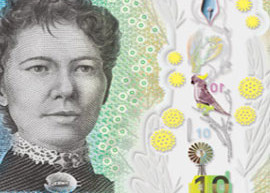 Australia Next Generation $10 banknote from the Reserve Bank of Australia