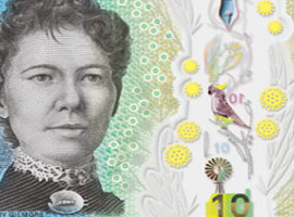 Australia Guardian™ Next Generation $10 banknote from the Reserve Bank of Australia