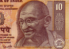 India 10 banknote