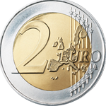 Image of front of Euro coin