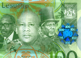 Lesotho 100 banknote thumbnail