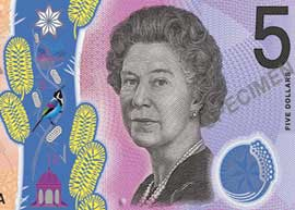 Australia 5 banknote thumbnail