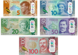 The seventh series of New Zealand banknotes.