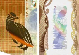 New Zealand $5 banknote security features
