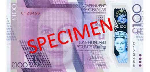 Gibraltar £100 banknote