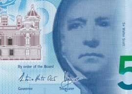Thumbnail of new polymer Bank of Scotland £5 banknote.