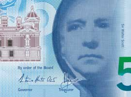 Thumbnail of new polymer Bank of Scotland £5 banknote.