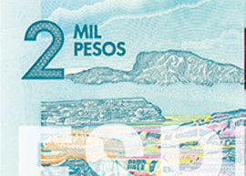 Thumbnail image of the new Colombia 2000-peso banknote