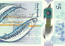 Thumbnail image of new RBS polymer £5 banknote.