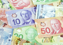 Image of Canadian banknotes