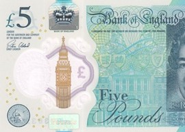 UK five pounds polymer 2016 thumbnail