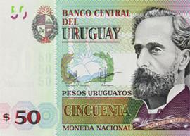 Thumbnail image of Uruguay 50 peso banknote.