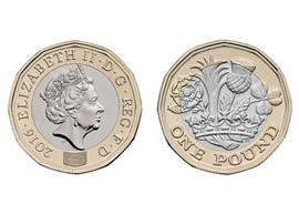 Image of front and reverse of new one pound coin.