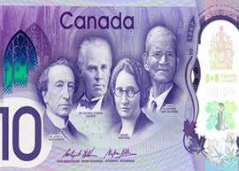 Thumbnail image of Canadian 10 dollar commemorative banknote.