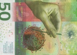Thumbnail image of the Switzerland Swiss 50 franc banknote issued April 2016.