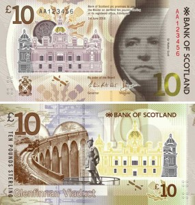 Image of the Bank of Scotland 10 pound banknote issued 2017