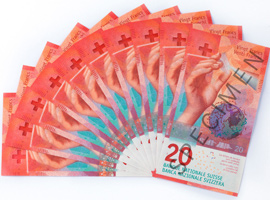 Image of the new 20-franc banknote. Image courtesy of the SNB.