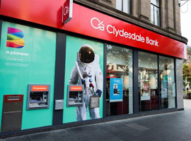 Image of the Clydesdale Bank branch, Dumfries.