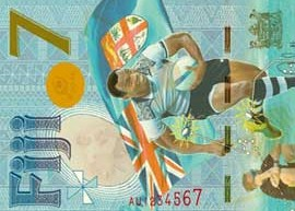 Thumbnail image of Fiji Seven commemorative banknote.