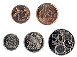 Image of the Trinidad & Tobago coin series