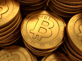 Image of Bitcoins, digital currency.