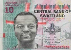 Swaziland 10 Lilangeni banknote