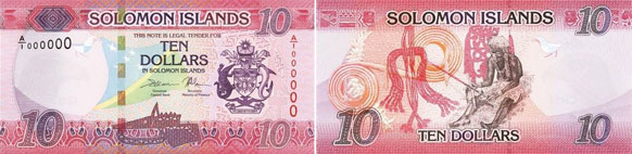 Solomon Islands $10 banknote issued 2017.