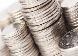 Image of stacks of silver coins