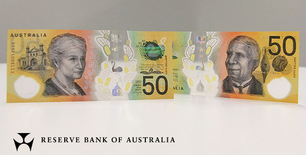 Reserve Bank of Australia $50 banknote.