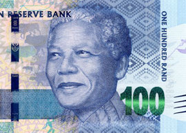 Thumbnail image of the South Africa Mandela 100 banknote.