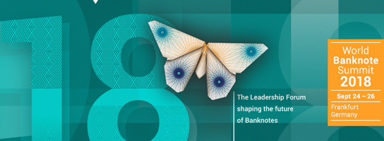 Image banner for the World Banknote Summit 2018 conference.