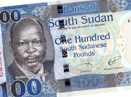 Thumbnail image of the South Sudan 100 banknote.