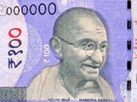 Thumbnail image of the 2018 Mahatma Gandhi 100 denomination banknote.