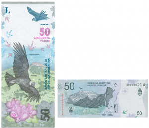 The new Argentina 50-peso banknote 2018.
