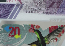 Thumbnail image of the new $20 Eastern Caribbean banknote due 2019.