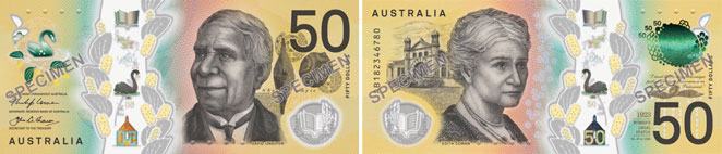 Image of the Australia Next Generation Banknote 50 2018