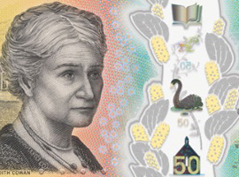 Thumbnail image of the Australia Next Generation Banknote 50 2018