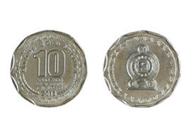 Sri Lanka 2017 Rs 10 circulation coin.