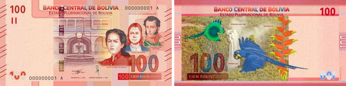 Central Bank of Bolivia 100 banknote 2019
